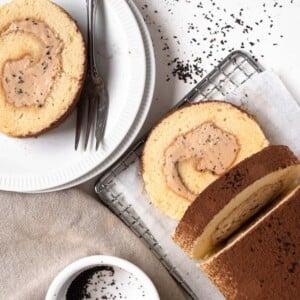 milk tea hong kong swiss roll cake