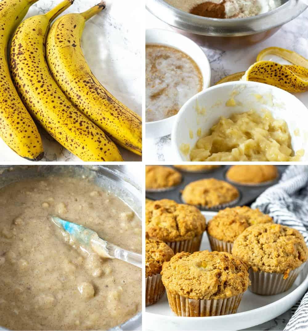 Vegan Banana Muffins Step By Step