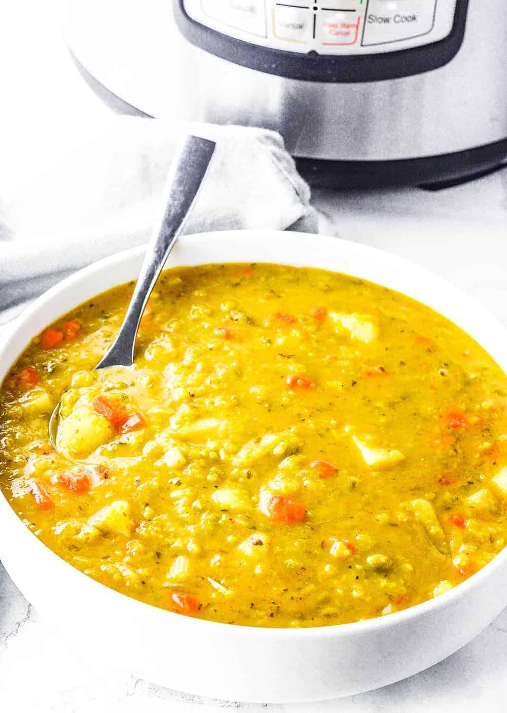 Instant Pot Vegan Split Pea Soup Recipe