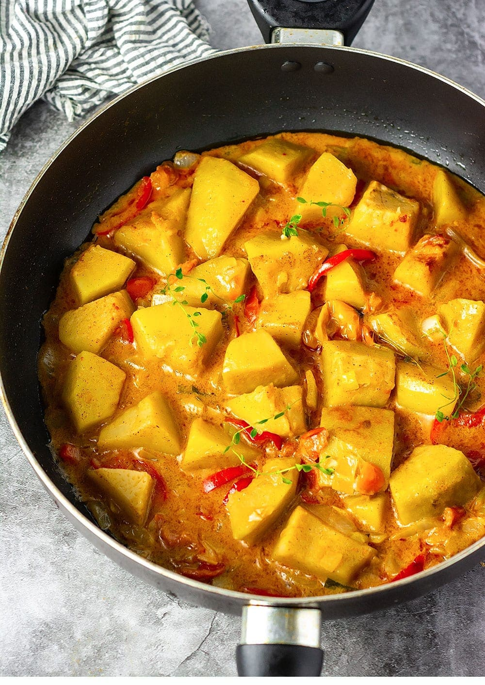 Jamaican Breadfruit Rundown