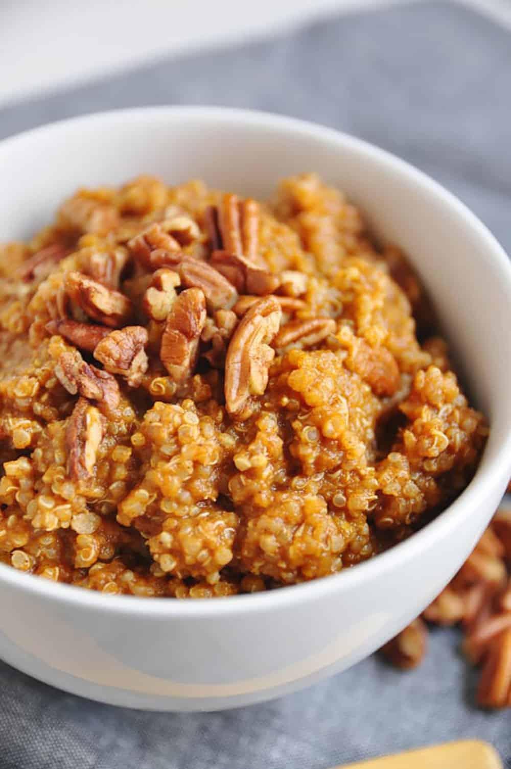 Pumpkin Pie Quinoa Breakfast