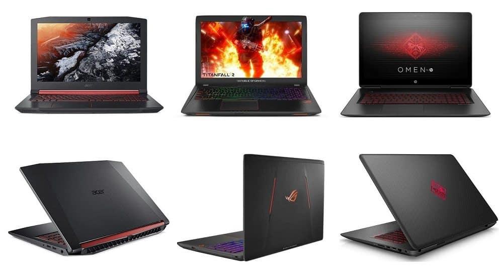 types of good gaming laptops