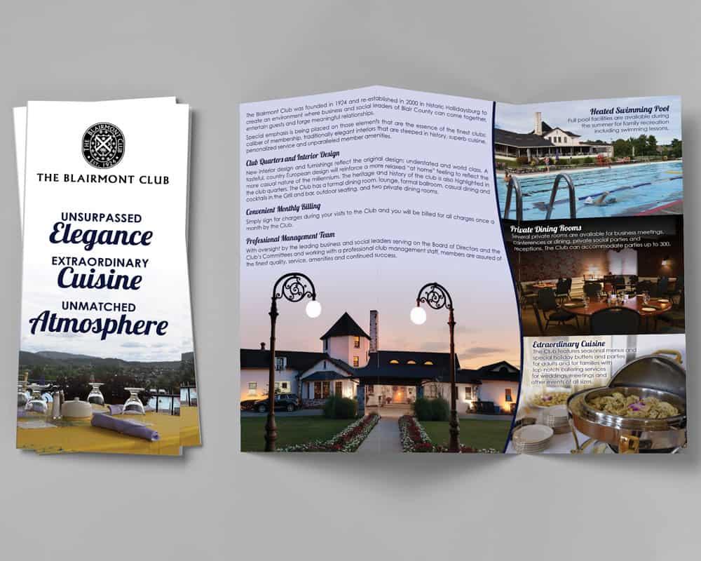 Blairmont Club trifold brochure