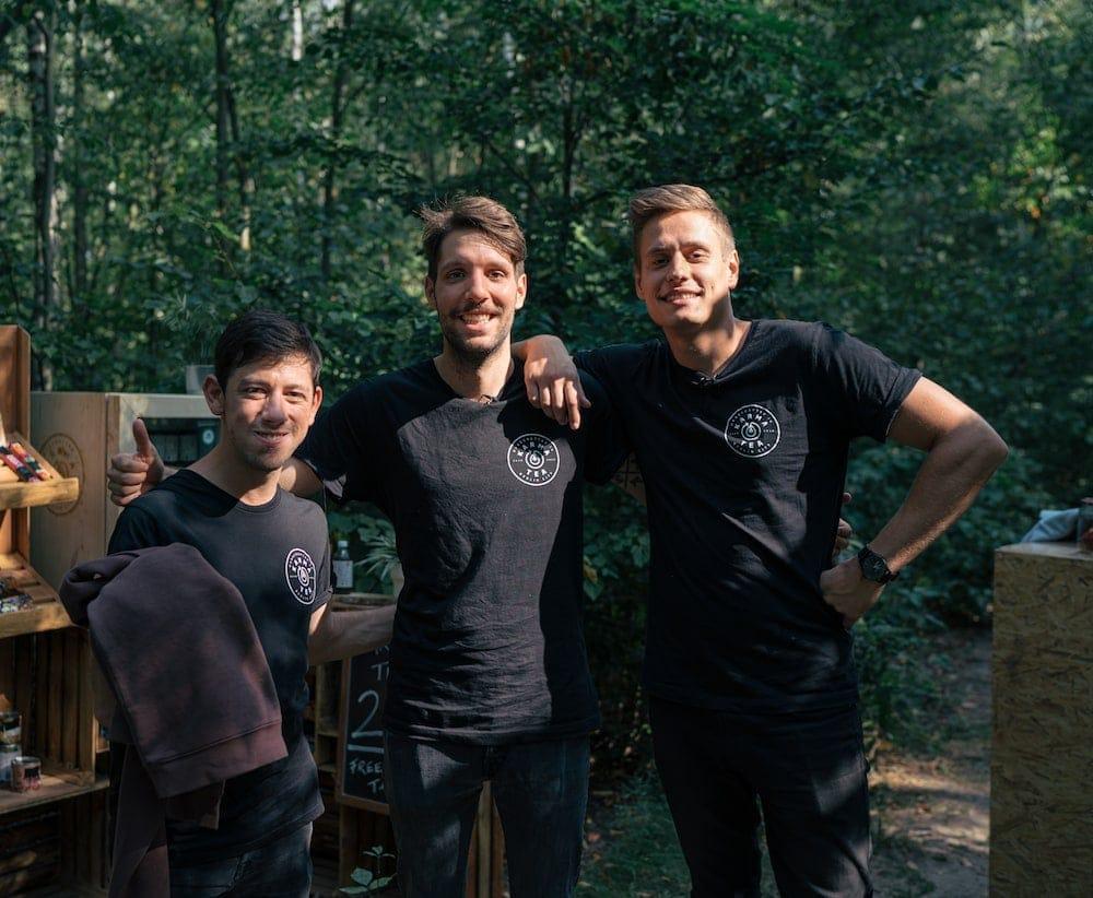 KarmaKollektiv Gründer Sven Bock, Aron Murru, Leon Franken