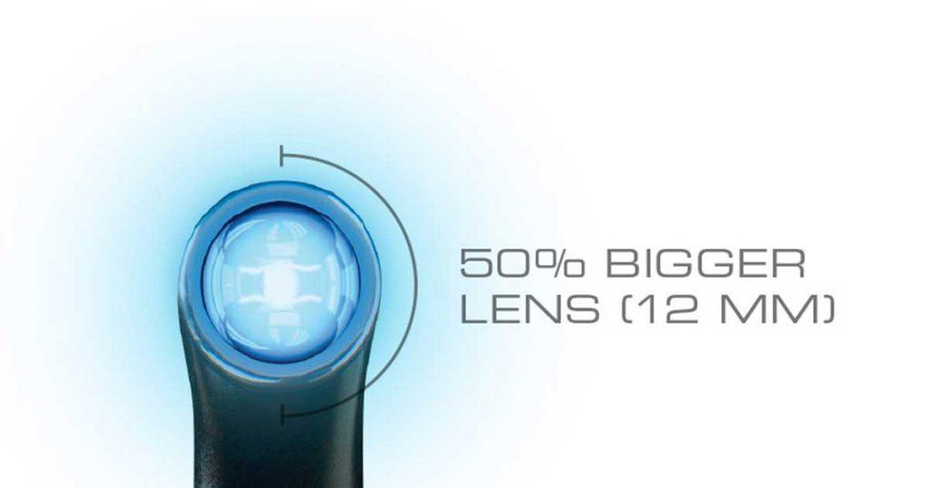 VALO Grand มีเลนส์ 12 มม. ที่ใหญ่กว่าไฟเดิมของ VALO ถึง 50%!