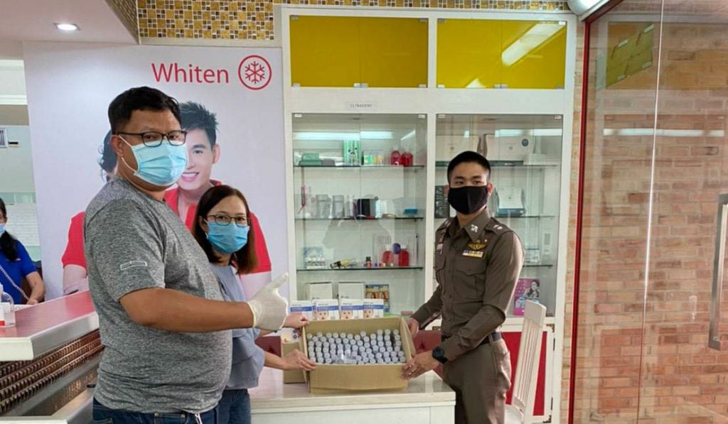 """NUDENT provides """"Thermometer and Hand Sanitizer"""" to Royal Thai Police for using in COVID-19 operation3"""
