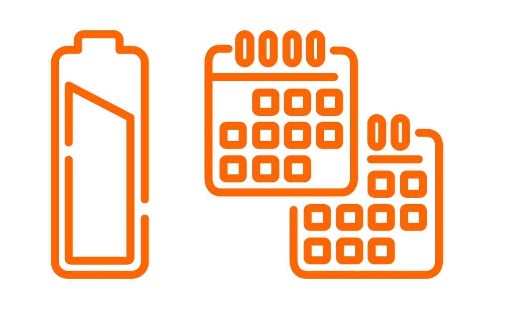 levensduur baterij 2 jaar