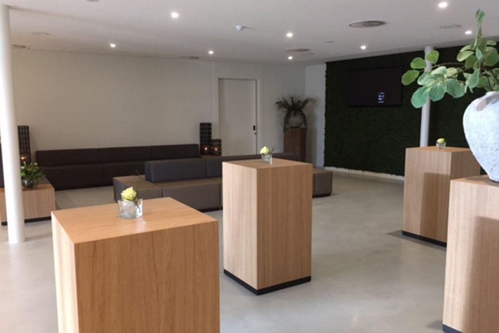 Lobby van crematorium Almelo