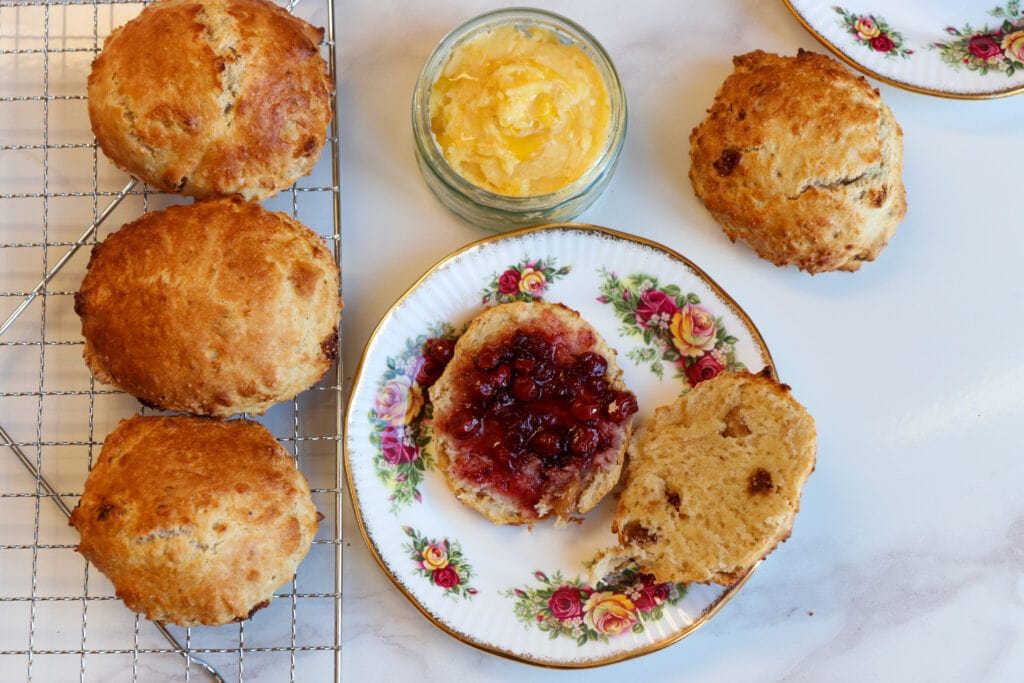 Scones with jam - food photography and styling by Melanie May