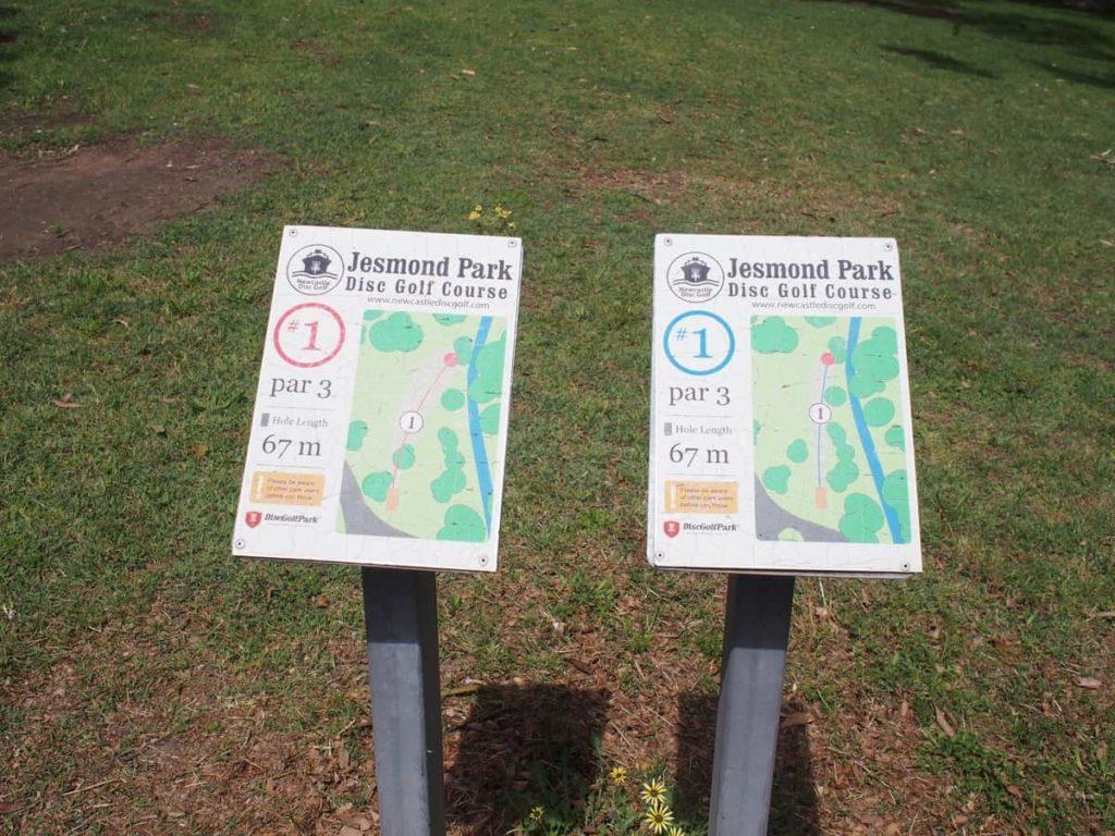 Jesmond Park Frisbee Course