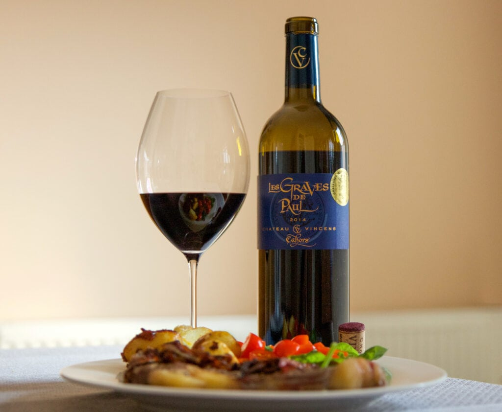 Food and wine writer Bottle and glass of red wine