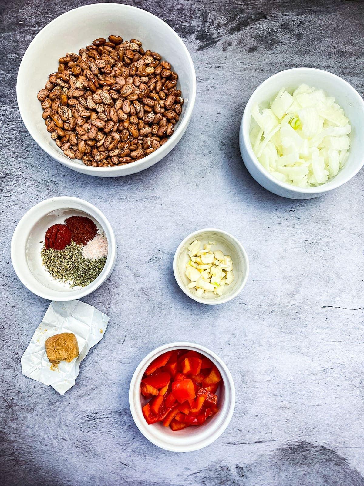 Instant Pot Pinto beans ingredients