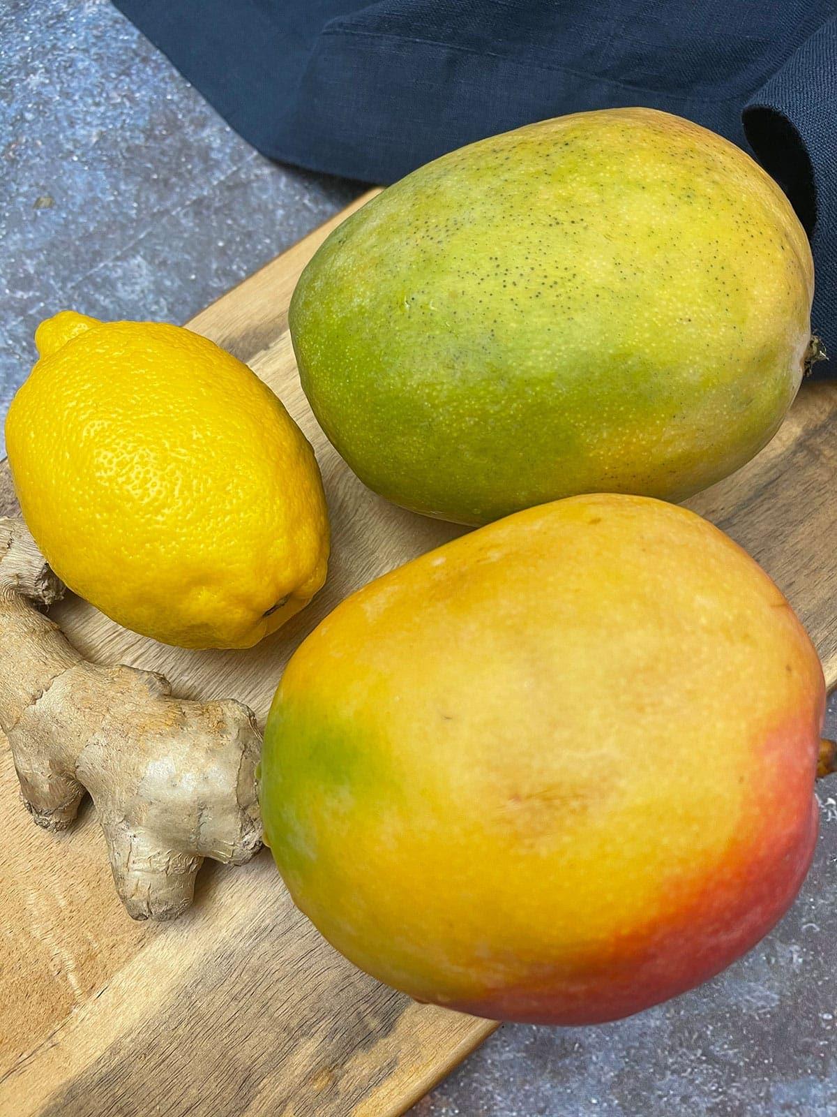 Ingredients for mango juice