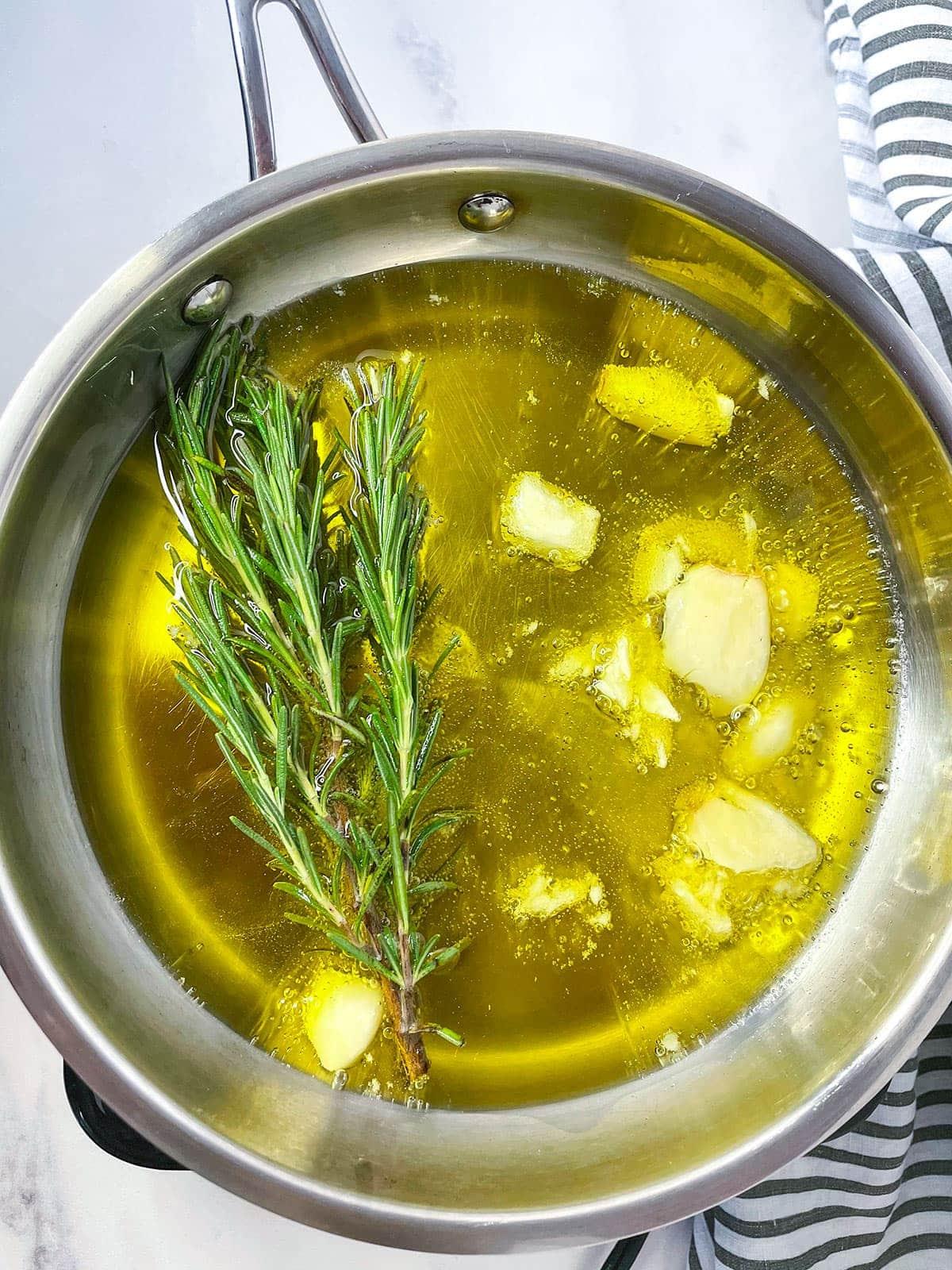 rosemary oil for roasted white sweet potato