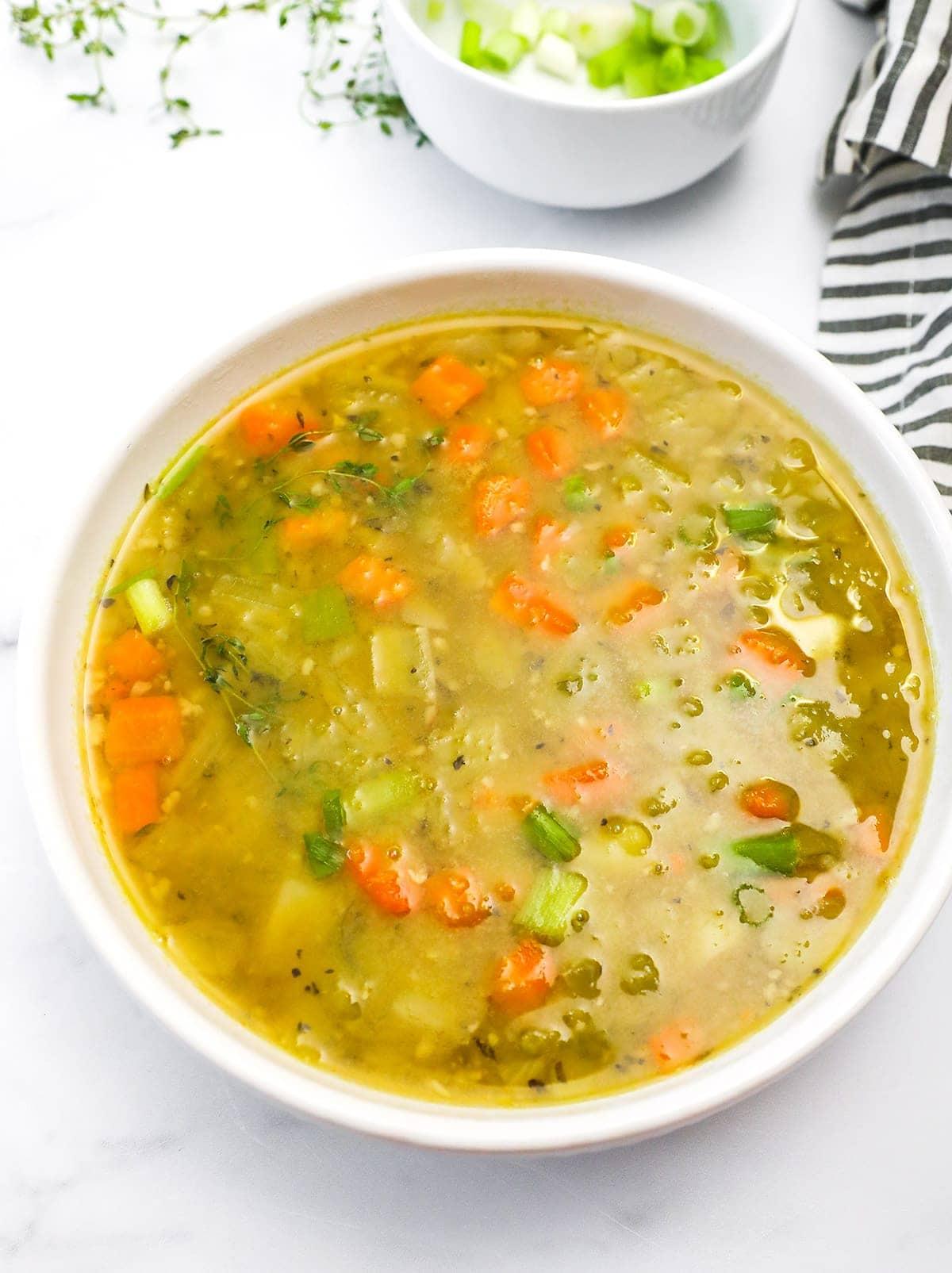 best vegan split pea soup overlay