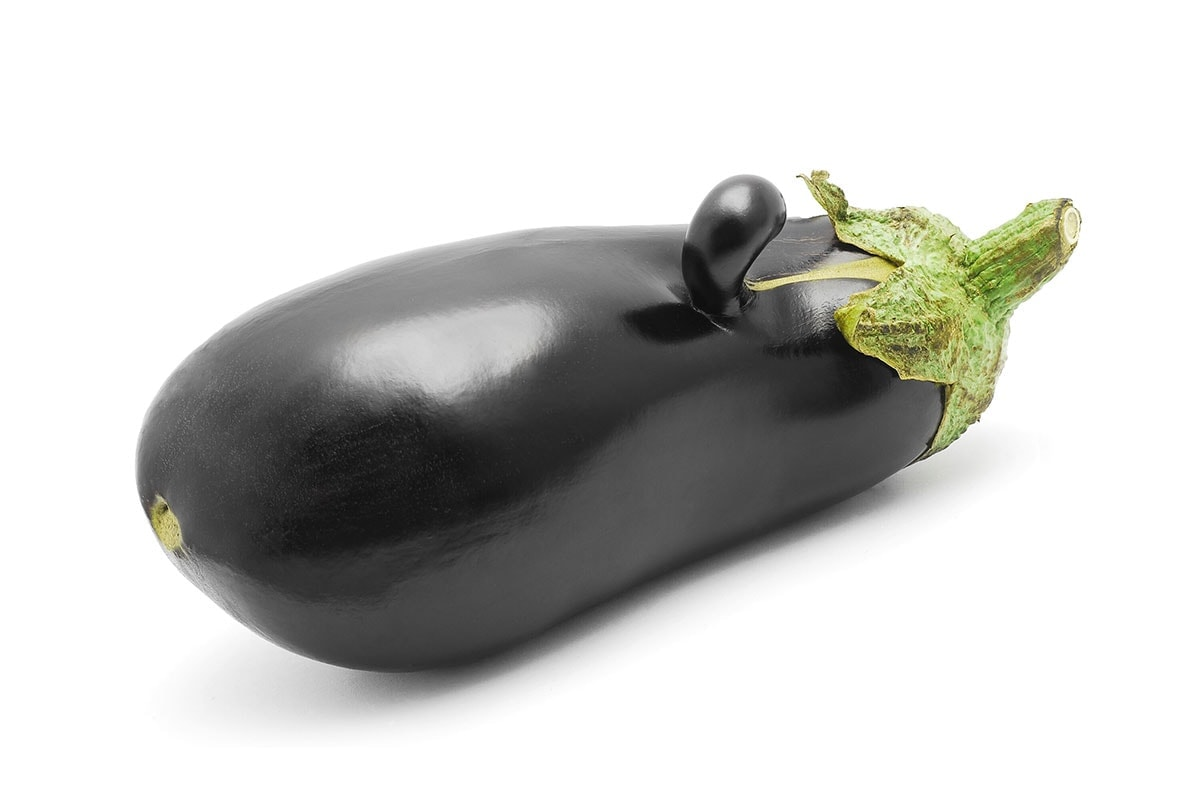 eggplant isolated on a white background