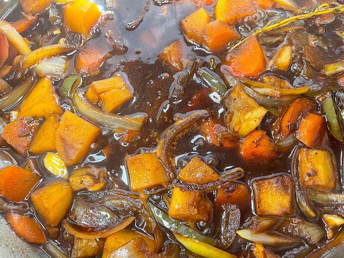vegetables for brown stew tofu