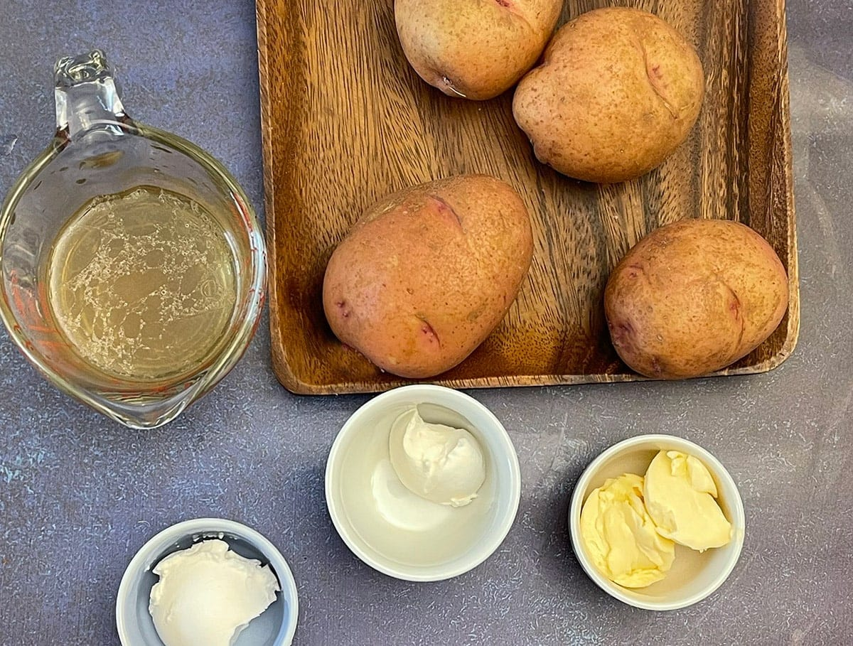 garlic mashed potatoes in the instant pot ingredients