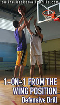 1 on 1 wing defensive drill