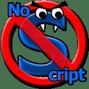noscript logo. lelijk beestje, dat script-monster