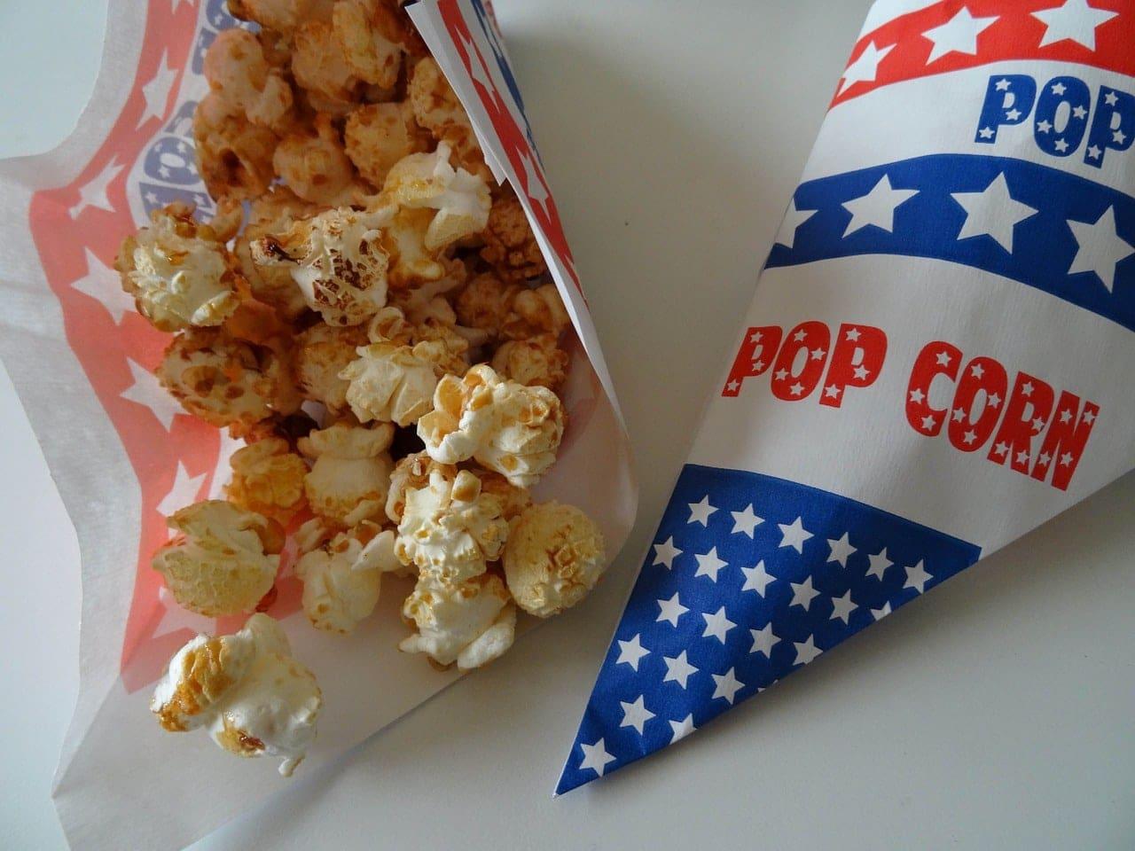 Golden Popcorn in Bag