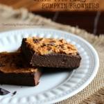 Grain Free Fudgy Pumpkin Brownies
