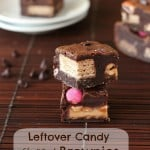 Leftover Candy Stuffed Fudge Brownies