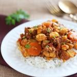 Cauliflower Curry with Ground Beef