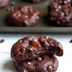 Spelt Double Chocolate Chip Cookies