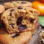 Coconut Flour Orange Cranberry Muffin