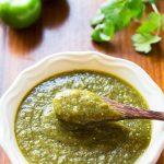 Tomatillo Salsa Verde in Bowl