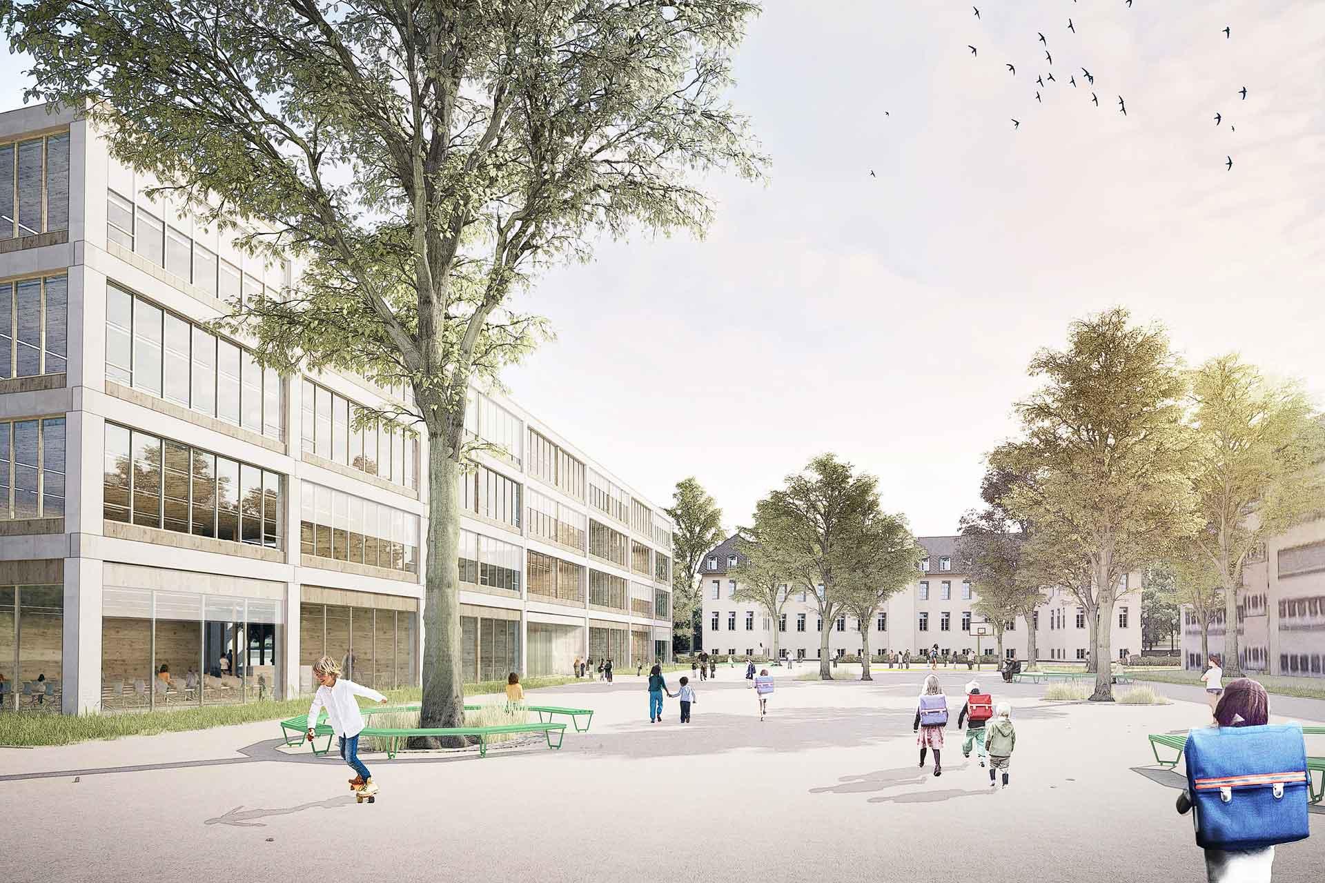 Entwurf für Grundschule in Typenbauweise, Aldinger Architekten