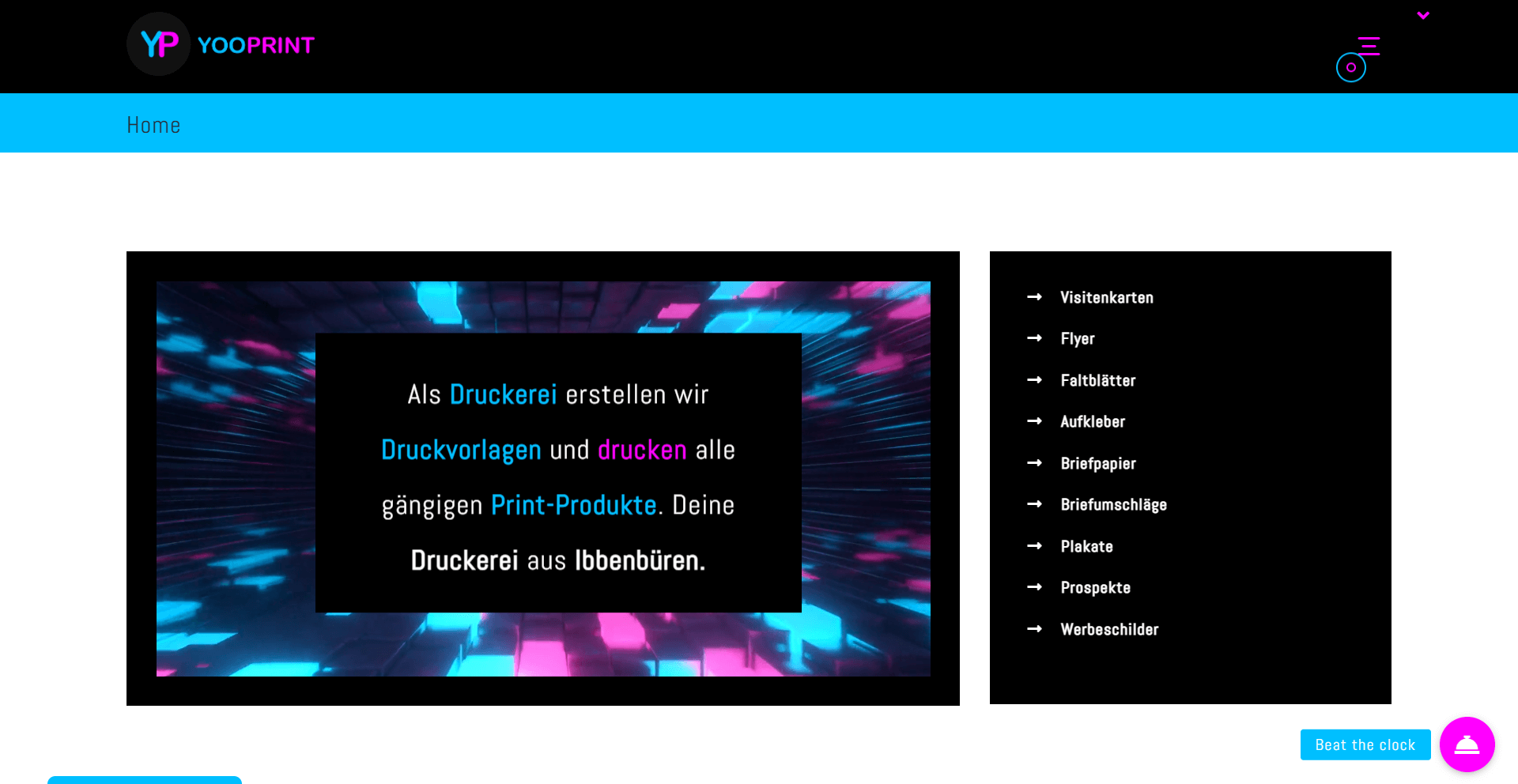 YOOPRINT Druckerei, WordPress Webdesign Referenz