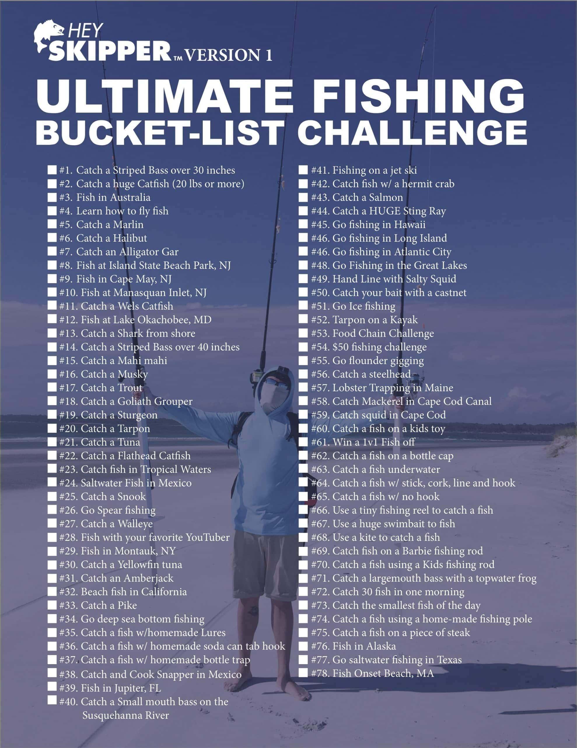 Hey Skipper Fishing Tutorials Ultimate Fishing Bucket-List Challenge v1