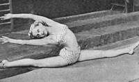 Dinah Grace beim Training, 1938
