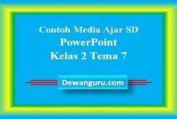 Contoh Media Ajar SD PowerPoint Kelas 2 Tema 7