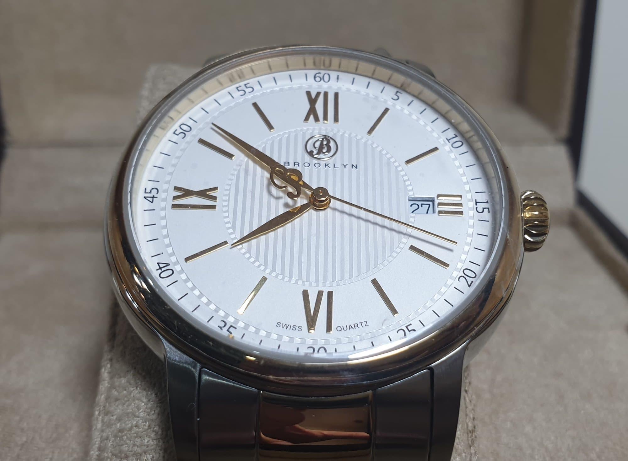 Đồng hồ Brooklyn Livingston Classic Swiss Quartz Silver Dial Men's Watch 101-M71122