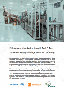 case study about the fully automated packaging line with Track & Trace solution by SoftGroup
