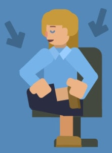 desk stretches knee pump