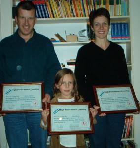 Gavin, Yvonne and Erin Fraser