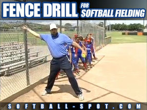 FENCE DRILL FOR SOFTBALL FIELDING