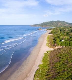La playa de Playa Grande