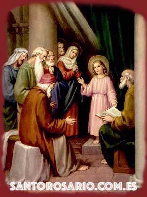 Quinto Misterio Gozoso: El Niño Jesús perdido y hallado en el Templo