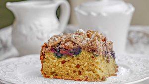 blueberry, apple, crumb cake