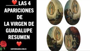 Las 4 apariciones de la Virgen de Guadalupe resumen