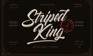 Free Striped King Vintage Script