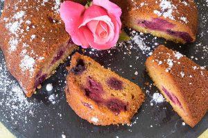 bundt, blackberry, cake, honey