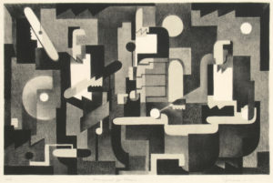 Benton Spruance: Arrangement For Drums. Signed, dated, titled and inscribed Ed. 35 in pencil.