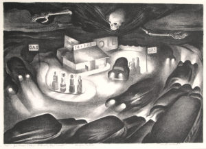 Benton Spruance: Road from the Shore. Signed, dated, titled and inscribed 7/35 in pencil.