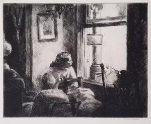 Edward Hopper, East Side Interior